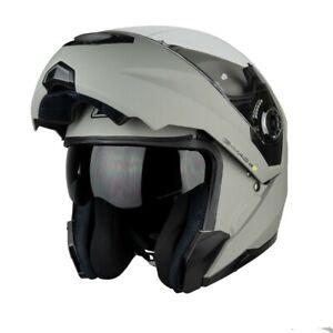 Flip Front Helmet > G-Mac Axis Evo Motorcycle DVS Sun Visor - Satin Grey