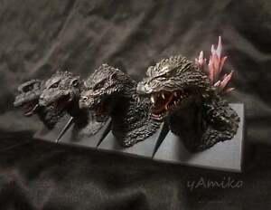 Unpainted Godzilla bust X 4 Resin model kit Gamera monster ultraman