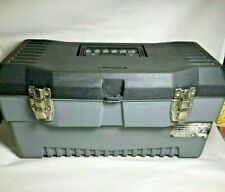 """19""""- STACK-ON Tool Box, Gray Storage organizer chest MADE IN USA, Compact"""
