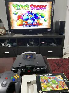 YOSHI'S STORY Nintendo 64 Game BOXED INSTRUCTIONS Working Perfectly As Shown