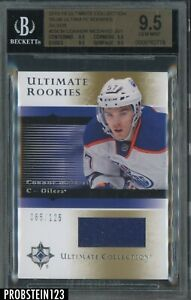 2015-16 UD Ultimate 05-06 Silver Connor McDavid RC Rookie Jersey /125 BGS 9.5