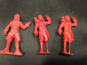 VINTAGE TOY PLASTIC ONE LEGGED PIRATES MPC COLLECTORS TOY PIRATES TOTAL 3