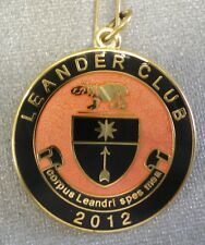 LEANDER CLUB 2012 ENAMEL Badge HENLEY ON THAMES ROWING corpus leandri spes mea