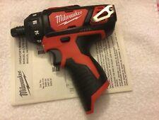 "New Milwaukee 2406-20 M12 12V 12 Volt 1/4"" Hex 2 Speed Cordless Screwdriver"