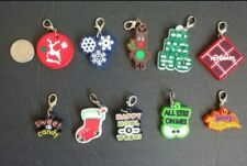 Lot 10 Holiday dog pet collars charms dangles jewelry Halloween Christmas Winter