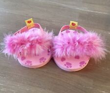 Babw Build A Bear Workshop Pink Sandals Feather Boa Flip Flops Shoes Slippers