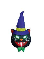 Halloween Inflatable Lighted Black Cat Indoor Outdoor Yard Decoration Party Prop