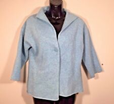 EILEEN FISHER PETITE Womens Cardigan Sweater Wool Cashmere Sz S Blue