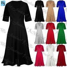 Unbranded V-Neck Short Sleeve Dresses for Women