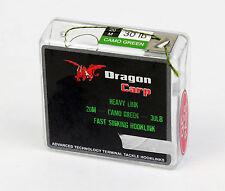 Dragon Leader Braid 20Mtrs Camo green 30lb fast sinking hooklink carp fishing AU