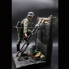 "1/6 Scale World War II Solider Trenches Platform Base Ladder For 12"" Figure Toys"