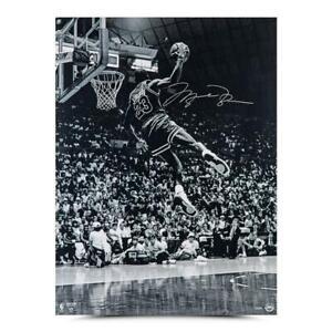 "MICHAEL JORDAN Autographed Bulls ""Frozen In Time"" 30"" x 40"" Photograph UDA"