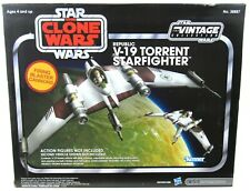 New listing New Star Wars Vintage Collection Clone Wars Republic V-19 Torrent Starfighter