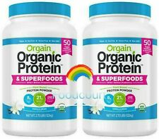 2 Packs Orgain USDA Organic Plant Protein and Superfoods Powder 2.7 LB Each Pack