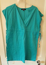 Ladies 'ASOS' Blue cotton hip length sleeveless Top. Size 12. vgc
