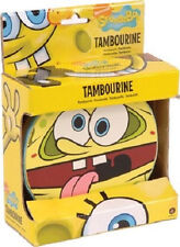 SPONGEBOB SQUAREPANTS TAMBOURINE TOY HAND DRUM BRAND NEW DRUMS  IN COLOURED BOX