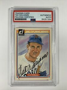 Ted Williams Autograph PSA/DNA 1983 Hall of Fame Heroes Card Boston Red Sox