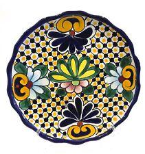 "Talavera 11"" Plate Mexican Pottery"