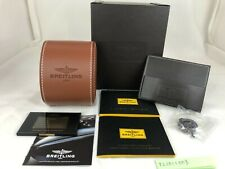 Genuine Breitling Watch Box Case Brown Leather r21011003