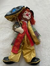 Vtg Hobo Clown with Umbrella by Ron Lee Doll Collection 1989 Singing in the Rain