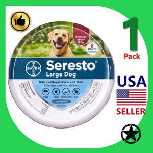 1 Pack Seresto Large Dog Flea & Tick 8 Month Prevention 18 lbs