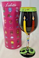 Lolita 50 and Fabulous Birthday Wine Glass Hand Painted with Box 15 oz. New