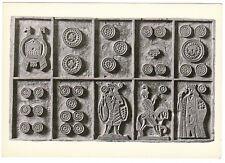 Carte postale: Planche de bois gravée pour l'impression de tarots XIXe