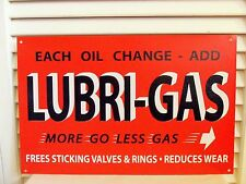 Vintage Lubri Gas Sign Service Station Lube Oil Garage Harley Man Cave