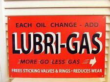 Vintage Lubri Gas Station Sign Lube Oil Filter Black & Orange Garage Gift