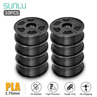 SUNLU PLA 3D Drucker Filament 1,75 mm 1 kg /10 Rollen Spulenmaterial mehrfarbig