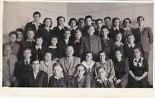 1950s School class handsome boys young men girls fashion Russian Soviet photo