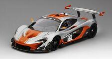 McLaren P1 Gtr #13 Silver & Orange 2015 1:18 Model TRUE SCALE MINIATURES