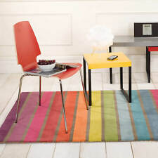 Flair Rugs Illusion Abstract Tonal Campari Candy Prism Rosella Wool Design Rugs