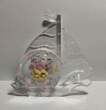 24K Pure Gold Double Peach Figurine Baby Shower Newborn with Gift Box