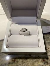 9k White Gold 0.62ct Diamond Engagement Ring With Full Certificate And Valuation