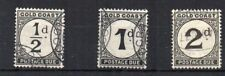 Gold Coast 1923 Postage Due values to 2d FU CDS