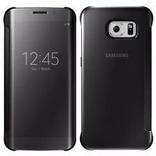 Clear View Mirror Flip Cover Case for Samsung Galaxy S7 S8+ Iphone 6 7 8 Plus