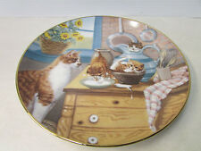 Table Manners ~ Country Kittens Plate Collection by Gre' Gerardi w/Coa 4093