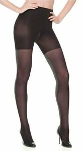 SPANX women's Tight End Tights Heathered Black / Gray size F
