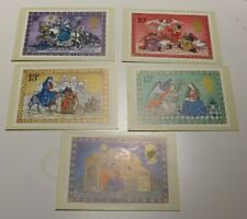 MINT 1979 GB CHRISTMAS PHQ MAXI CARD SET OF 5