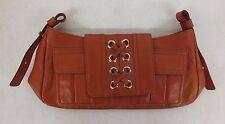 "GENUINE Yves Saint Laurent Riva Gauche Orange Leather Clutch 2.5x5x9"" LOOK"