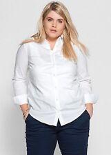 SHEEGO ~ Bianco Stretch Camicia/blusa ~ Taglia 16