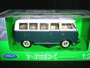 NEW WELLY NEX MODEL 1:24-27 SCALE DIECAST MODEL-1963 VOLIKSWAGEN T1 BUS VW HIPPY