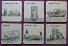 Beer Mats - Six Otter Brewery Mats Numbers 1 to 6 - Relax with an Otter