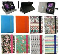 """Universal Wallet Case Cover Stand Folio  for 7"""" inch Tablet with Stylus"""