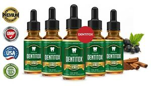 Dentitox Improve Teeth Gums Bad Breath Dental Health Pro Liquid Drops 5 Pack