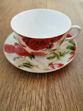 Coffee Tea 2 cup and 2 Saucer set  Shabby Chic Vintage porcelain Gift Box