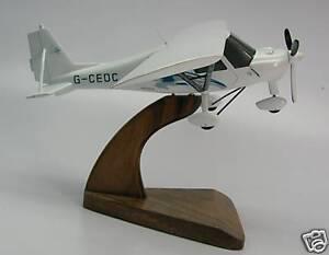 Ikarus C-42 Private Airplane Desktop Kiln Dry Wood Model Regular New