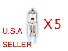 5 Bulbs 12V Volt 5W 5 Watt Type JC Base G4 Halogen Light Bulbs Clear Bi-Pin