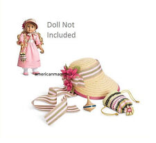American Girl CAROLINE MEET ACCESSORIES for Dolls Straw Bonnet New in Box